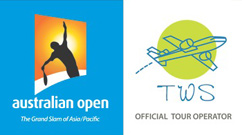 Australian Open logo Official Tour Operator